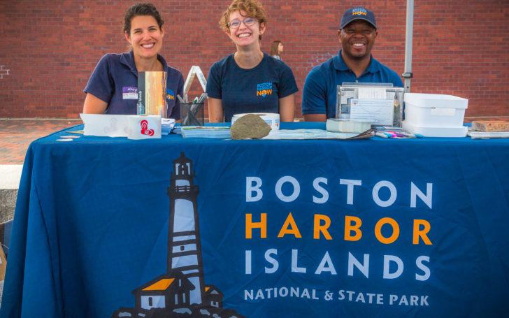 Boston Harbor Now Staff at BHI table