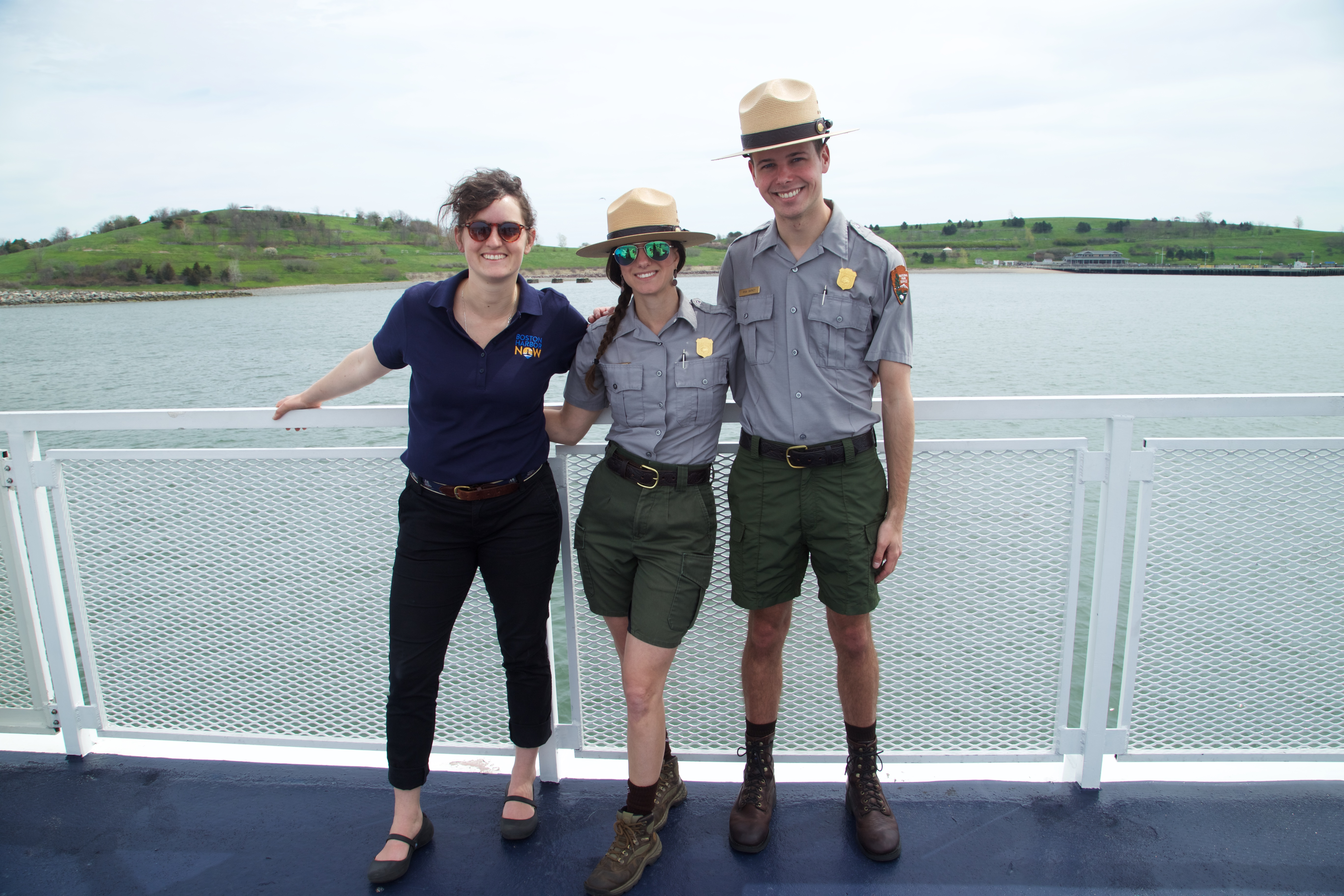 Park Rangers with BHN on ferry